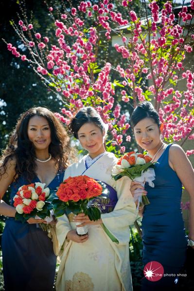 Yuko with her Bridesmaids Emi and Eriko